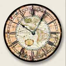 AMERICAS MAP Wall CLOCK - Vintage Print - Antique Old World Look - 7009