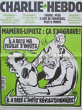 CHARLIE HEBDO No 482 SEPTEMBRE 2001 RISS MAMERE LIPIETZ CA S AGGRAVE !