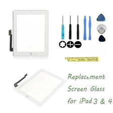 White  The New   iPad3 iPad4 Glass Digitizer Touch Screen Replacement