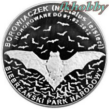 Polonia 2011 coins 10 Miedz. Nietoperz Bat Animals Tiere Butterfly Bison ns