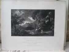 Vintage Print,STORM DIDO,Eneas,Poussin,National Gallery,1832