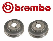 Set of 2 Rear Civic Brake Drums Brembo For: Honda Civic Fit Accord 2.0L 21056