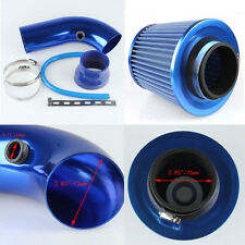 "Blue 3"" Universal Cold Air Intake Induction Hose Pipe Kit System & Filter UK"