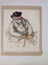 Cocher Anglais, Rare Antique Print - Jayler (artist) Lich De Villans (printer)
