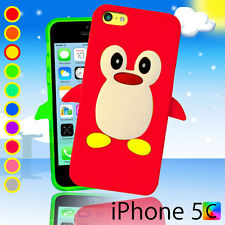 Penguin Case For iPhone 5c 5 c + Screen Guard 3D Silicon Rubber Soft Cover