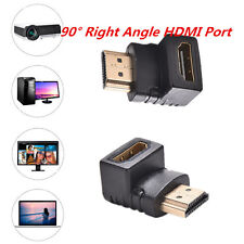 90 Degree Right Angle HDMI Port Male to Female HDTV TV Connector Adapter