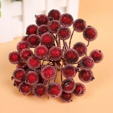 2016 Christmas Red Fruit Berry Holly Artificial Flower Pick Home Decor DIY