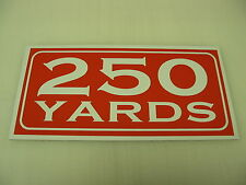 Vintage 250 YARD MARKER Metal Sign 4 Golf Club Yardage sign for Golf Course