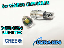 2 HIGH POWER CANBUS CREE 5w XENON PURE WHITE LED BULB 12V 501 W5W SIDELIGHTS T10
