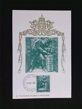 VATICAN MK 1966 BERUFE MAURER MASON MAXIMUMKARTE CARTE MAXIMUM CARD MC CM c5527