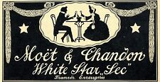 "Moet & Chadon White Star ""sec"" Campagner Annonce 1905"