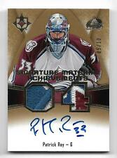 2015-16 Ultimate Collection Signature Material Achievements PATRICK ROY #5/10