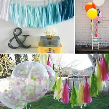 New 5Pcs Tissue Paper Tassels For Party Wedding Garland Bunting Hanging Decor