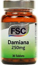 Damiana 250mg 30 Tablets x 2 Pots - FSC