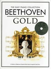 Easy Piano Collection Beethoven Gold Sheet Music Book