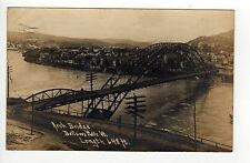 BELLOWS FALLS VERMONT RPPC Real Photo Postcard ARCH BRIDGE Rockingham VT 1907
