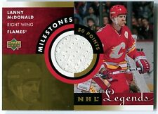 2001-02 Upper Deck NHL Legends LANNY MCDONALD Milestones Jersey Patch Rare SP