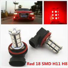 2 x Off Road Xenon Red H8 H11 18-5050 SMD LED Fog Light Driving HeadLight Bulbs