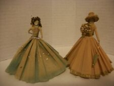 2 Antique Die cut & Paper Victorian Dolls W/ Accessories From Germany !!SEE!!