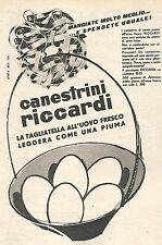 W8971 Canestrini RICCARDI - Pubblicità del 1958 - Vintage advertising