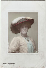 Vintage SYBIL ARUNDALE Stage Actress Embossed colourised POSTCARD 1900 Victorian