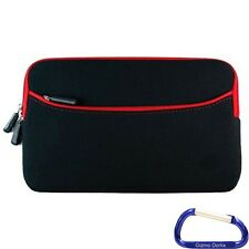 "Neoprene Cover Case for the Nook HD 7"" Tablet - Black with Red Trim"