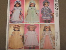 """SEWING PATTERN McCALLs 3627 18"""" GIRL CLOTHES AMERICAN PIONEER RENAISSANCE UNCUT"""