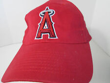 LA Angels Baseball Hat Cap Red BD&A Embroidered Velcro