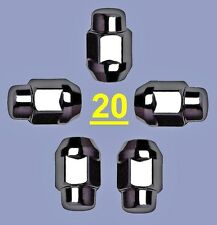"1/2""X 20 BLACK LUG NUTS JEEP CJ DJ YJ TJ WRANGLER XJ CHEROKEE LIBERTY COMMANDER"
