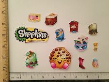12 Lg Sm Shopkins Characters Fabric Applique Iron On Ons Logo Kookie Cookie