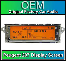 Peugeot 207 display screen, RD4 radio LCD Multi function clock dash Brand New!!!