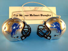 DETROIT LIONS CAR MIRROR NFL FOOTBALL HELMET DANGLER - HANG FROM ANYTHING!
