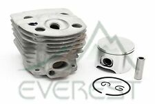NEW HUSQVARNA 51 55 CYLINDER HEAD PISTON KIT WITH RINGS PIN & CLIPS 45mm