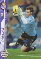 N°182 IKER CASILLAS # REAL MADRID CARD PANINI MEGACRACKS LIGA 2007