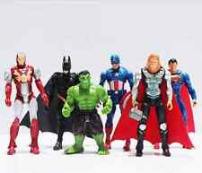 6 figuras MARVEL LOS VENGADORES SPIDERMAN IRON MAN HULK CAPITAN AMERICA THOR