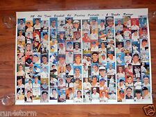 Mantle Williams Ruth Cy Berra MLB Baseball Painting Portraits 1978 40x28 Poster