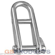 5mm Stainless Steel Long Double Bar Locking D Shackle with Pin Free P+P!