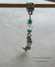 Mermaid Beach Ocean Life Euro Dangle Charm fits Charm Bracelet Big Hole Bead 3pc