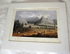 Railroad Survey Hell Gate Entrance Cadotte Pass Matted Tinted Lithograph/Print