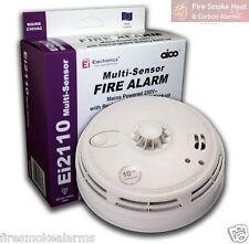NUOVO Aico ei2110 EI Professional Litio Multi SENSORE CALORE & Fumo Allarme Incendio