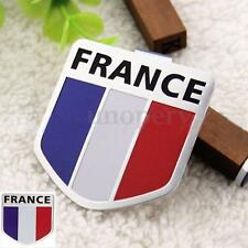 Car Motorbike Aluminum 3D France French Flag Shield Emblem Badge Sticker Decals