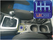 SUBARU IMPREZA UK300 CENTRE CONSOLE GEAR BOX SHIFTER BADGE 6 SPEED GEAR STICK
