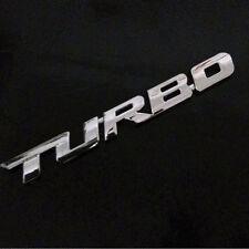 3D Metal Chrome Silver TURBO Fender Emblem Sticker Trunk Rear Badge