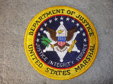 Department Of Justice United States US Marshall Sewing Patch Integrity Round