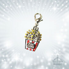 Popcorn 3D Charm  Anhänger Strass Pop Corn  Kette Armband Charms C655