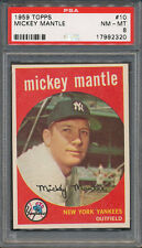 1959 Topps #10 Mickey Mantle PSA NM-MT 8 *2320