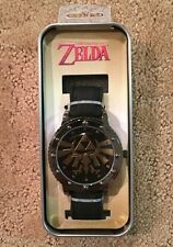 The Legend Of Zelda Triforce Logo Bolt Case Rubber Band Analog Watch Gift NIT!