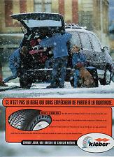 Publicité Advertising 1998  Pneu KLEBER  KRISALP 3 : le kleber neige
