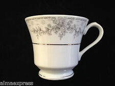 Lynns Fine China OLIVIA Empress Gray & White Flowers - TEA CUP