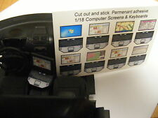 Police Laptop and Keyboard in 1:24 Stick on Decals for 1:24 Ford Explorer Only